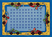 Race Cars Area Rug