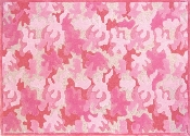 Girls Camo Area Rug